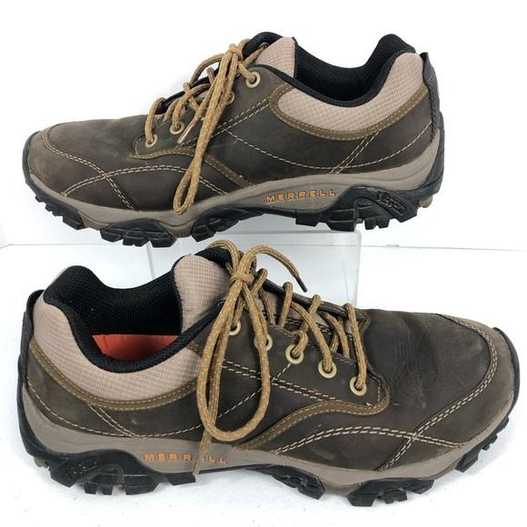 b6b0c1577f Merrell Mens Leather Hiking Shoes Sz 10.5